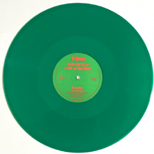 "Elvis Costello And The Attractions - Green Shirt/Beyond Belief (12"") (Green Vinyl) (VG+/NM)"